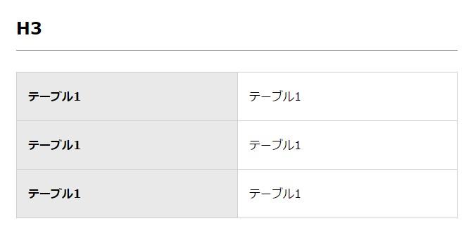 【賢威7先行公開版カスタマイズ】テーブルタグのカスタマイズ方法